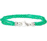 JAI Triple Strand Gemstone & Sterling Silver Bracelet - J352993