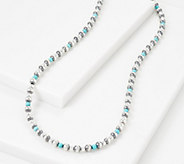 American West Sterling Silver Gemstone Bead 24 Necklace - J355693