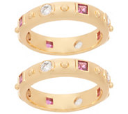 Heritage Jewelry Set of 2 Simulated Gemstone Rings - J357393