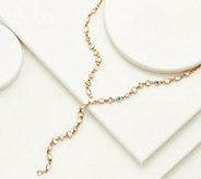 LOGO Links by Lori Goldstein Delicate Snowflake Lariat Necklace - J358693