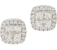 Affinity Diamond 14K Gold Seamless Cushion Earring 1.00 cttw - J358893