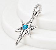 JAI Sterling Silver Turquoise North Star Enhancer - J359693