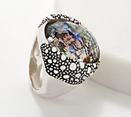 Michael Dawkins Sterling Silver Starry Night Triplet Ring - J361593