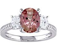 1.95 ct Pink Tourmaline & 1/2 cttw Diamond Ring, 14K - J376093