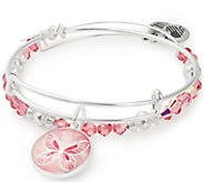 Alex and Ani Butterfly Art Infusion Set of 2 Bangles - J384793