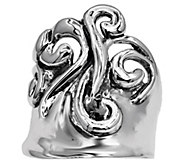 Hagit Sterling Silver Polished Swirl Ring - J385393
