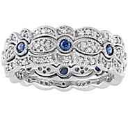 Affinity 14K Diamond & Sapphire Set of 3 StackRings - J385793