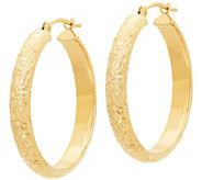 EternaGold 1 Crystal-Cut Round Hoop Earrings,14K Gold - J386193