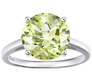 Sterling Silver 4.00 cttw Round Solitaire Gemstone Ring - J386293