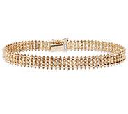 Imperial Gold 8 Woven Sparkle Bead Bracelet 14K, 14.4g - J388993