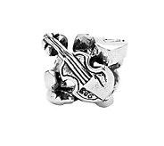 Prerogatives Sterling Violin, Guitar, and Saxophone Bead - J108694