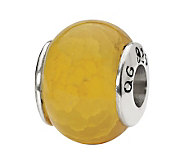 Prerogatives Sterling Yellow Crackle Agate Gemstone Bead - J298194