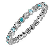 Simply Stacks Sterling Aquamarine & Diamond Stackable Ring - J298694