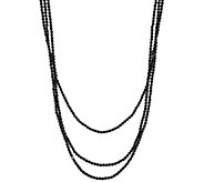 JAI 72 Sterling Silver Black Spinel Bead Necklace - J346294