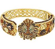 Judith Ripka Sterling & 14K Clad Gemstone Lucas Lion Cuff Bracelet - J346794