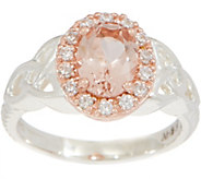JMH Jewellery Sterling Silver Morganite Ring - J352694