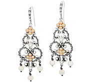 Barbara Bixby Sterling Silver & 18K Gold Cultured Pearl Earrings - J355694