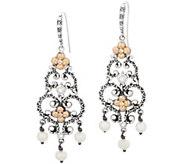 Barbara Bixby Sterling Silver & 18K Gold Cultured Pearl Earrings - J355694