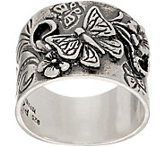Or Paz Sterling Silver Butterfly Graduated Band Ring - J356594