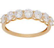 Diamonique Round 7-Stone Band Ring, 14K Gold - J357594