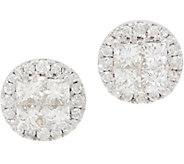 Affinity Diamond 14K Gold Seamless Round Earrings, 1.00 cttw - J358894