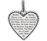 JAI Sterling Silver I Love Heart Enhancer, 21.6g - J358994