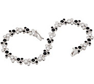 As Is Mickeys 90th Birthday DMQ Black & White Tennis Bracelet - J360894