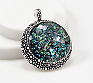 Michael Dawkins Sterling Silver Starry Night Triplet Enhancer, 27.0g - J361594