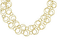 Italian Silver Circular Link Necklace Sterling,25.9g - J379794