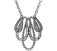 Carolyn Pollack Sterling Lasting Connections Necklace - J380294