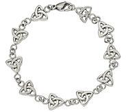 Stainless Steel 7-3/8 Trinity Knot Bracelet - J383794