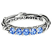 Peter Thomas Roth Sterling 5-Stone Ceylon Sapphires Band Ring - J392194