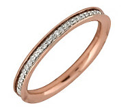 Simply Stacks Sterling Diamond 18KRose Gold-Pla ted 2.25mm Ban - J299295