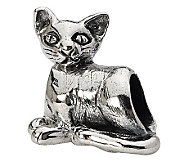 Prerogatives Sterling Oriental Cat Bead - J299495
