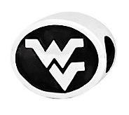 Sterling Silver West Virginia University Bead - J300795