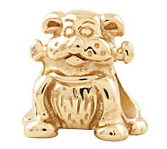 Prerogatives 14K Yellow Gold-Plated Sterling Dog w/Bone Bead - J302795