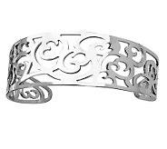 Stainless Steel Fancy Cuff Bracelet - J306595