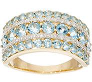 Santa Maria Aquamarine & Diamond Wide Band Ring, 14K 1.40 cttw - J335395
