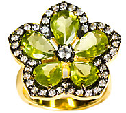 Graziela Gems Peridot Flower Ring, Sterling & 18K Yellow - J337095