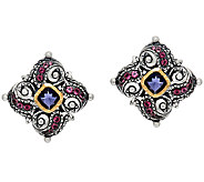 Barbara Bixby Sterling & 18K 1.55cttw GemstoneSwirl Earrings - J341395