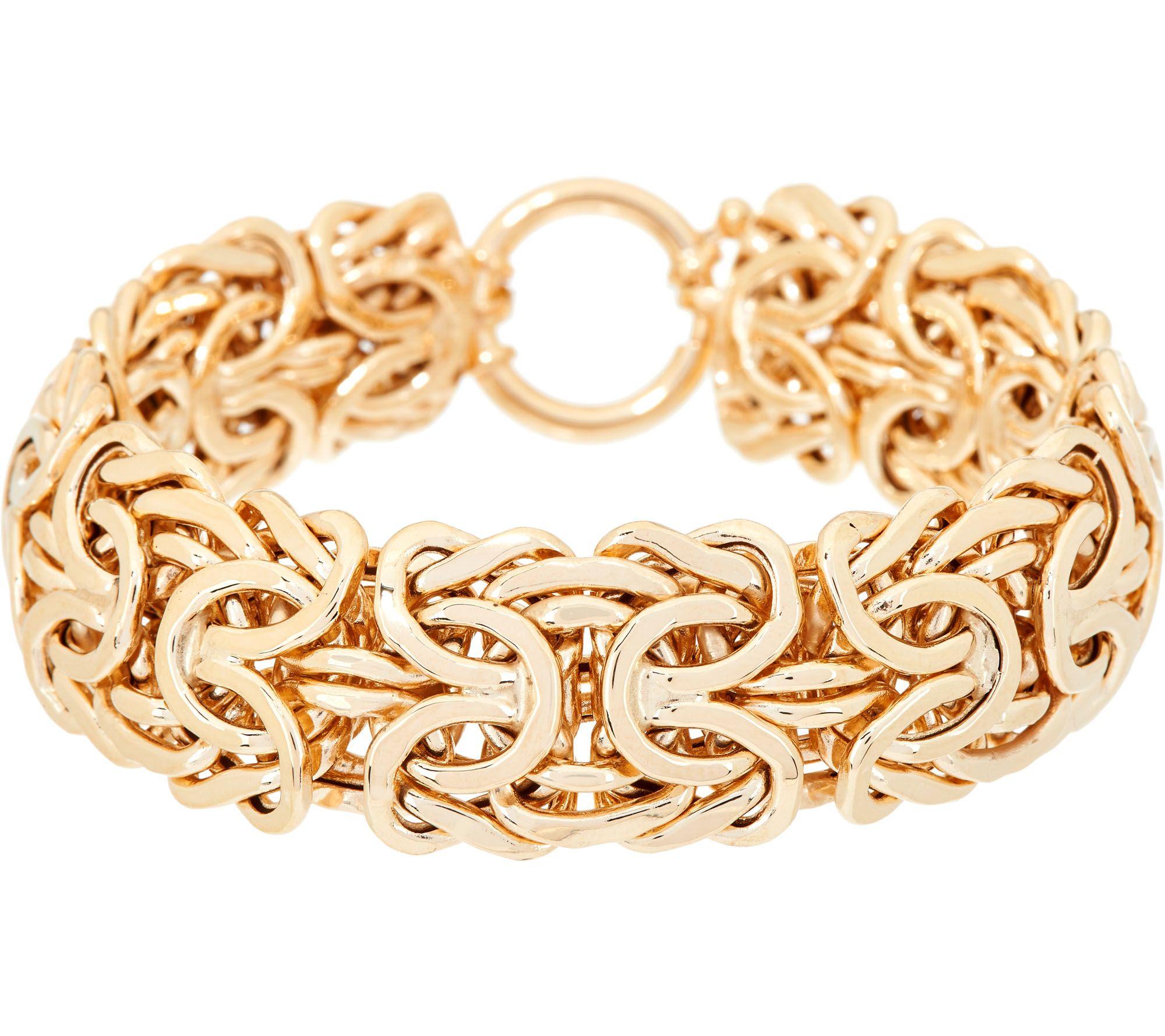 14k Gold 7 1 4 Bold Byzantine Bracelet