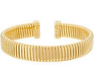 Bronze Polished Tubogas Cuff Bracelet by Bronzo Italia - J349195