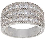 Diamonique 1.00 ct tw Triple Row Ring Sterling - J349995