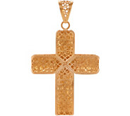 Italian Gold Cross Pendant, 14K Gold - J351195