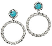 Tiffany Kay Studio Sterling Silver Purl Removable Hoop Earrings - J352395