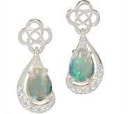 JMH Jewellery Sterling Silver Earrings with Opal Teardrops - J352695