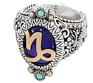 Barbara Bixby Sterling Silver & 18K Gold Horoscope Ring - J355695