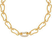 Heritage Jewelry Organic Oval Link Necklace Goldtone - J357395