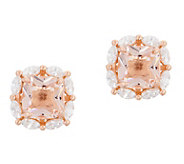 Diamonique and Simulated Gemstone Stud Earrings, Sterling Silver - J357495