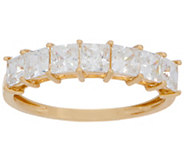 Diamonique Princess 7-Stone Band Ring, 14K Gold - J357595